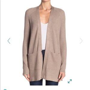 Oversized Tan Sweater Cardigan Medium